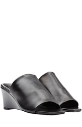 Robert Clergerie Pauline Leather Wedge Mules