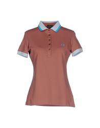 Fred Perry Topwear Polo Shirts Women Cocoa