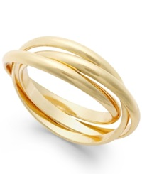 Giani Bernini Stackable Rings In 24K Gold Over Sterling Silver