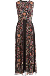 Red Valentino Crepe Floral Print Mid Length Dress Florals