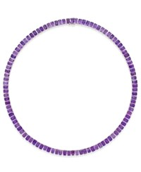 Macy's Amethyst Collar Necklace 61 Ct. T.W. In Sterling Silver