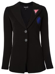 Emporio Armani Two Button Blazer Black