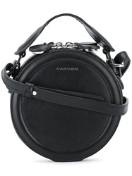 Carven Mini Round Tote Black