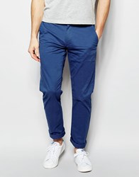 Farah Chino In Slim Fit Stretch Cotton Blue