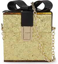 Aldo Apanthuga Glitter Box Shoulder Bag Gold
