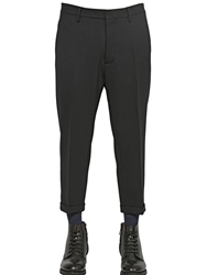 Dsquared 19Cm Stretch Wool Trousers Black