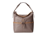 Dooney And Bourke Seville Med Zipper Pocket Sac Taupe W Self Trim Satchel Handbags Brown