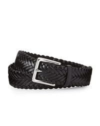 Cole Haan Braided Leather Belt Black
