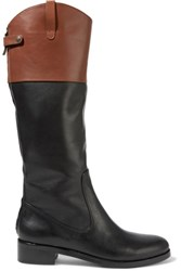 Halston Heritage Barbra Two Tone Leather Boots Black