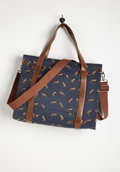Camp Director Tote In Foxes Mod Retro Vintage Bags Modcloth.Com