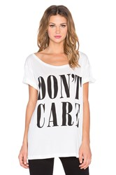 Clayton Don't Care Wide Neck Tee White