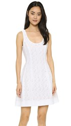 Prabal Gurung Fil Coupe Cotton Dress Porcelain