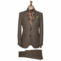 Gresham Blake Aw15 Green Pow Tweed 2Pc Suit