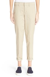Women's Vince 'Boyfriend' Crop Cotton Trousers