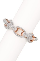 Adami And Martucci 18K Rose Gold Vermeil Chain Link Mesh Bracelet Metallic