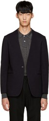 Tomorrowland Navy Collarless Blazer