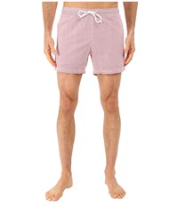 Lacoste Striped Seersucker Swim Short 5 Lighthouse Red White Men's Swimwear Pink