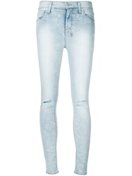 Ksubi Distressed Skinny Jeans Blue