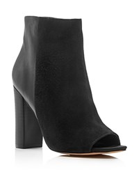 Sam Edelman Yarin Open Toe High Heel Booties Black