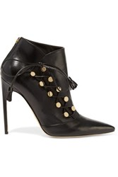 Brian Atwood Blanche Leather Ankle Boots Black