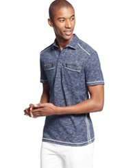 Inc International Concepts Armory Polo Basic Navy