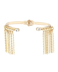 Lydell Nyc Golden Fringe Crystal Hinged Bangle Crystal Cl