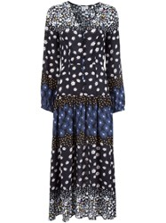 Suno Floral Print Dress Black