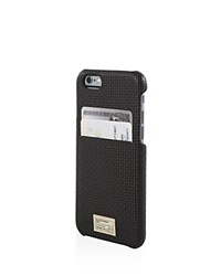 Hex Solo Basketweave Wallet Iphone 6 6S Case Black Woven Leather