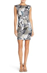 Women's French Connection Print Stretch Cotton Sheath Dress