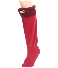 Hunter 6 Stitch Cable Boot Sock Military Red Dulse Women's Crew Cut Socks Shoes