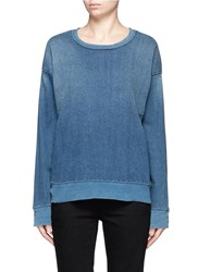 Current Elliott 'The Ivy League' Cotton Denim Sweatshirt Blue