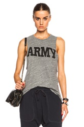 Nlst Racerback Army Tee In Gray