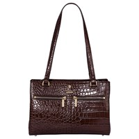 Modalu Pippa Small Leather Shoulder Bag Oyster Croc