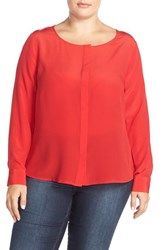 Plus Size Women's Tart 'Krista' Mirror Print Silk Top