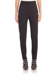 Alexander Wang Solid Fitted Cropped Pants Black