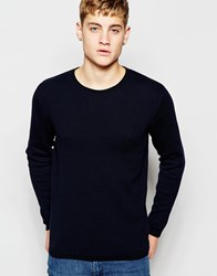 Jack And Jones Jack And Jones Knitted Jumper In Mixed Yarns Black