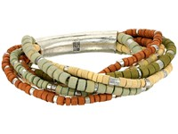 Robert Lee Morris Multi Row Beaded Stretch Bracelet Green Bracelet