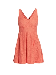 Morgan Baby Doll Style Dress With Buttoned Back Peach