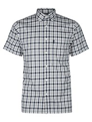 Aquascutum London Emsworth Club Check Short Sleeve Shirt Blue