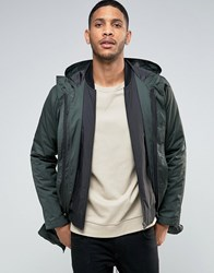 Asos Parka Jacket With 2 In 1 Inner Bomber In Khaki Khaki Green