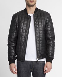 Armani Jeans Black Quilted Leather Jacket