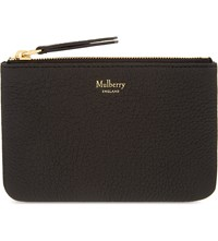 Mulberry Grained Leather Medium Continental Wallet Black
