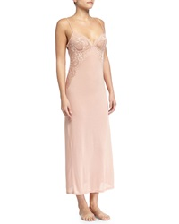 La Perla Begonia Lace Long Gown Pink