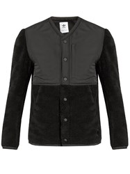 Adidas Originals By Wings Horns Water Resistant Collarless Faux Shearling Jacket Black