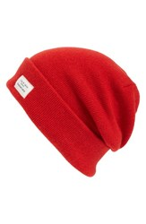 Rag And Bone Men's Standard Issue Stretch Wool Beanie Red Tomato Red