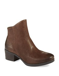 French Connection Truman Textured Ankle Boots Bitternut