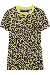 Sibling Leopard Print Cotton Jersey T Shirt Pastel Yellow Leopard Print