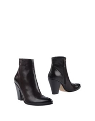Maria Cristina Ankle Boots Dark Brown