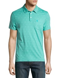 Penguin Sailor Print Jersey Polo Shirt Bright Aqua