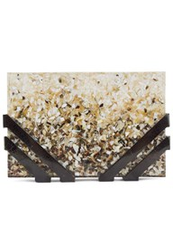 Nathalie Trad Ombre Shell Resin Kent Clutch Multi